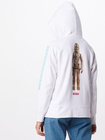 LEVI'S Majica 'GRAPHIC SPORT HOODIE' | bela barva: Pogled od zadnje strani