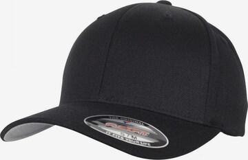 Flexfit Czapka z daszkiem 'Wool Blend' w kolorze czarny