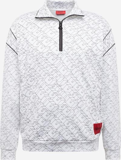 HUGO Sweatshirt 'Drubber' in schwarz / weiß, Produktansicht