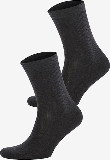 JOOP! Socken 'Irregular Rib' in anthrazit, Produktansicht