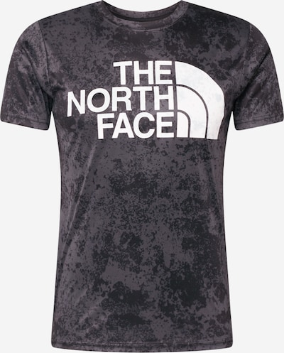 THE NORTH FACE Functioneel shirt 'Reaxion' in de kleur Donkergrijs / Wit, Productweergave