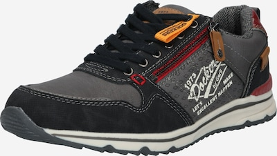 Dockers by Gerli Sneaker in karamell / graumeliert / rot / schwarz / weiß: Frontalansicht