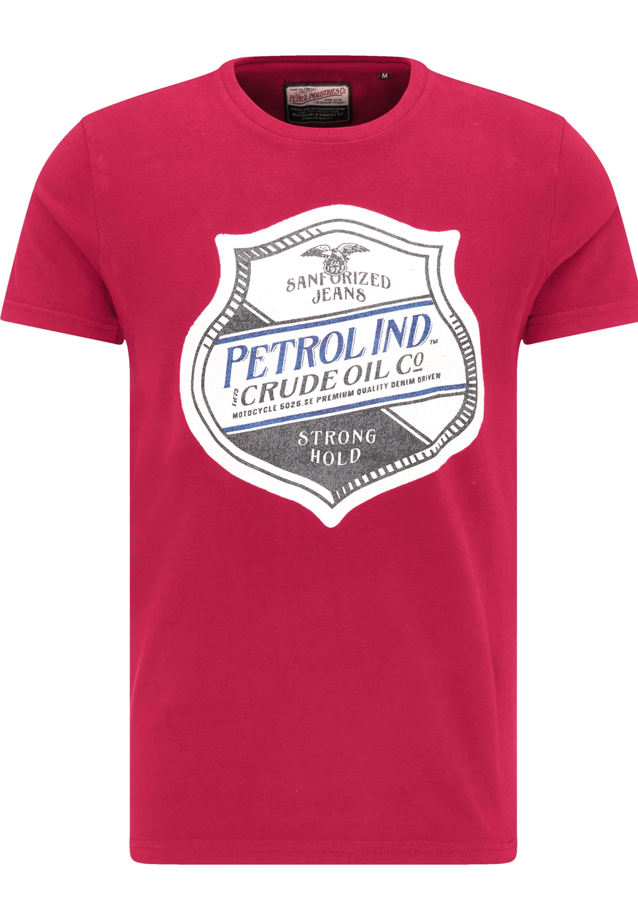 T En shirt Petrol Industries GrisRouge Blanc zVpqSUGML