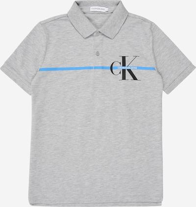 Calvin Klein Jeans Polo Shirt in graumeliert, Produktansicht