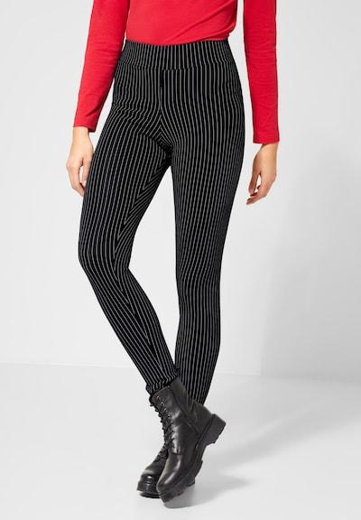 STREET ONE Leggings in schwarz / weiß, Modelansicht