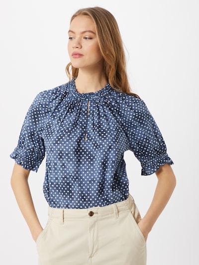 GAP Bluse in navy / blue denim / weiß, Modelansicht