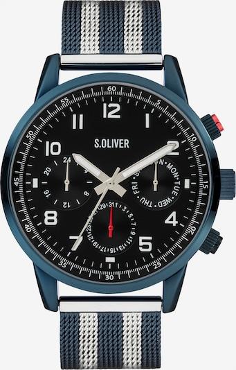 s.Oliver Uhr in petrol / schwarz / silber, Produktansicht