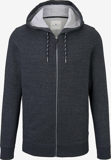 TOM TAILOR Sweatjacke in basaltgrau, Produktansicht