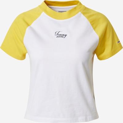 Tommy Jeans Koszulka w kolorze żółty / białym: Widok z przodu