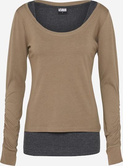 Urban Classics Тениска в екрю / Графитено сиво, Преглед на продукта