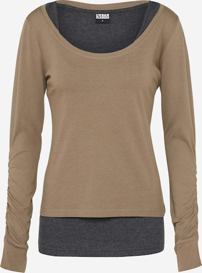 Urban Classics Shirt in ecru / graphit, Produktansicht
