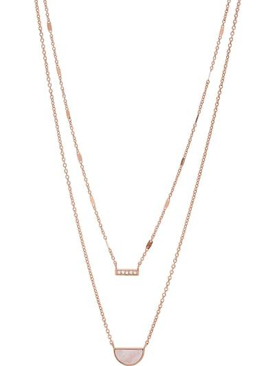 FOSSIL Kette in rosegold, Produktansicht