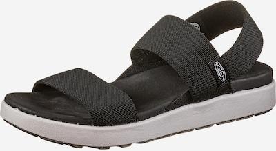 KEEN Sandalen 'Elle' in schwarz / weiß, Produktansicht