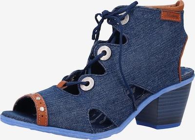 MUSTANG Sandaal in de kleur Blauw denim / Cognac, Productweergave