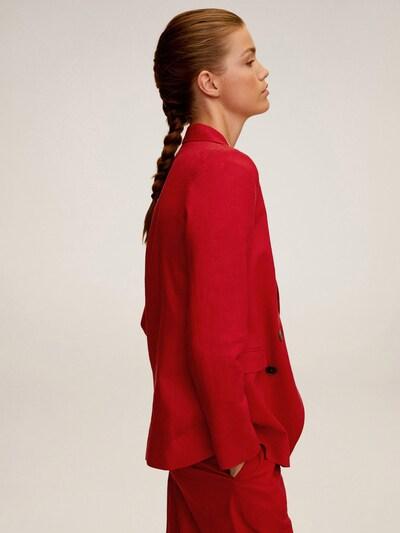 MANGO Blazer 'TEMPOLI' in rot, Modelansicht