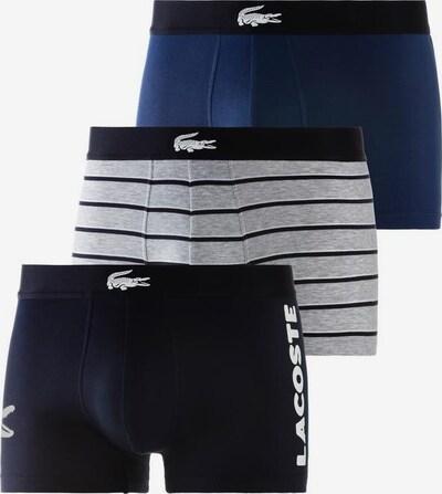 LACOSTE Boxer in blau / graumeliert / schwarz, Produktansicht