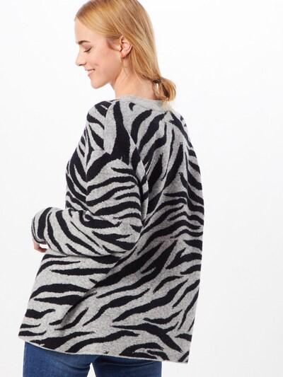 Frogbox Pull-over 'Zebra' en gris / noir: Vue de dos