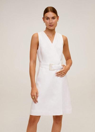 MANGO Kleid in weißmeliert, Modelansicht