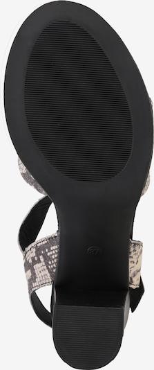ABOUT YOU Sandale 'Sena' in grau / schwarz: Ansicht von unten