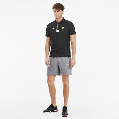 PUMA Poloshirt in gelb / schwarz / weiß: Frontalansicht