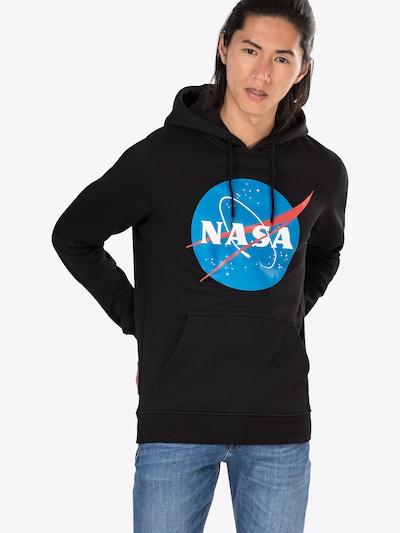 Mister Tee Sweatshirt 'NASA' in blau / rot / schwarz / weiß: Frontalansicht