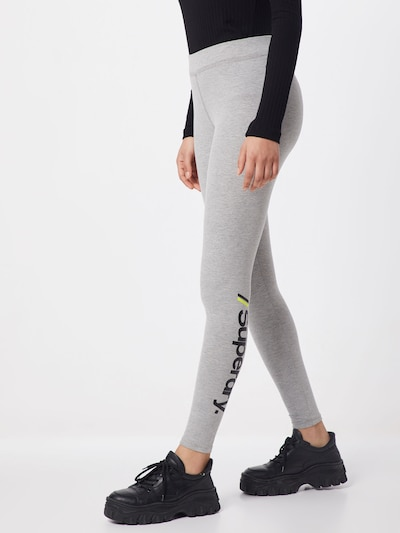 Superdry Leggings in grau / schwarz, Modelansicht