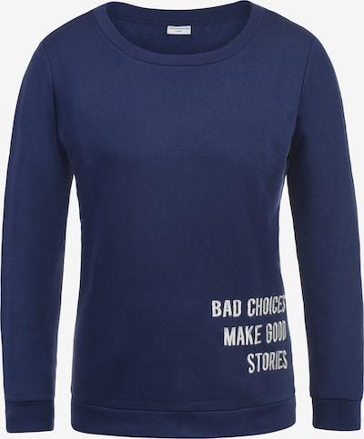 JACQUELINE de YONG Sweatshirt 'Luisa' in navy / weiß, Produktansicht