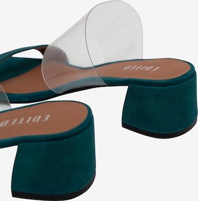 EDITED Sandale 'Kaori' in grün: Rückansicht