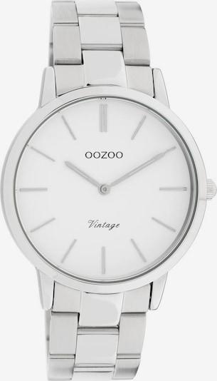 OOZOO Uhr 'C20026' in silber / weiß, Produktansicht