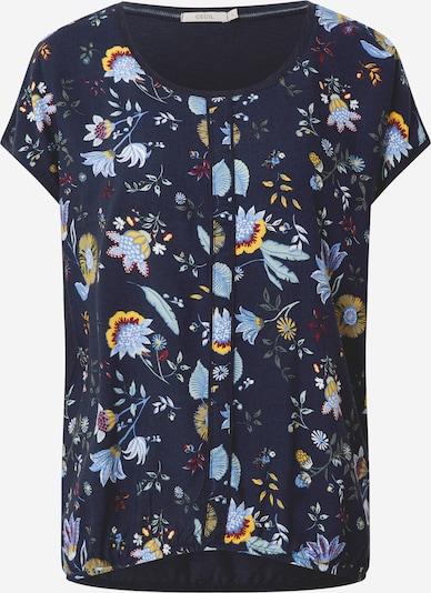 CECIL T-Krekls 'AOP Mat - Mix Shape' pieejami tumši zils / jauktu krāsu, Preces skats