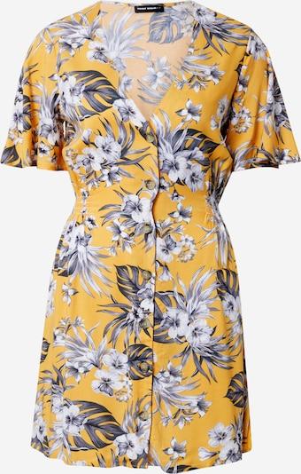 Tally Weijl Letnia sukienka w kolorze złoty żółty / ciemnozielony / białym, Podgląd produktu