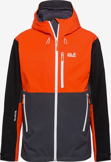 JACK WOLFSKIN Hardshelljacke 'Eagle Peak' in blau / orange, Produktansicht