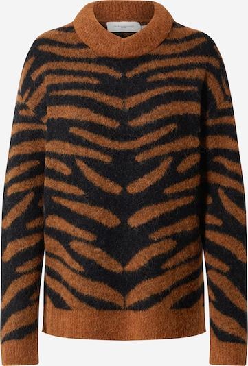 Copenhagen Muse Pullover in braun / schwarz, Produktansicht