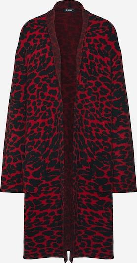 DKNY Strickjacke 'LONG LEOPARD CARDI' in rot / schwarz, Produktansicht