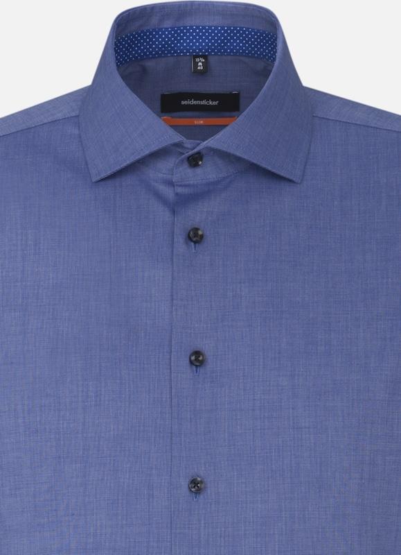SEIDENSTICKER Hemd in blaumeliert  Neu in diesem diesem diesem Quartal 9d0e88