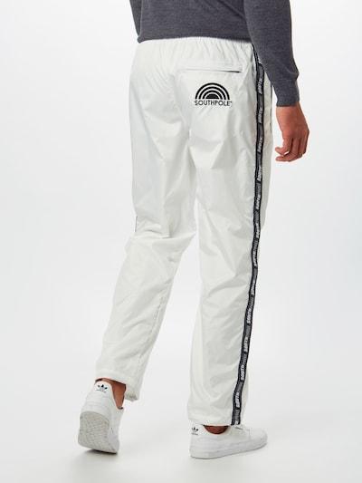 SOUTHPOLE Jogginghose in schwarz / weiß: Rückansicht