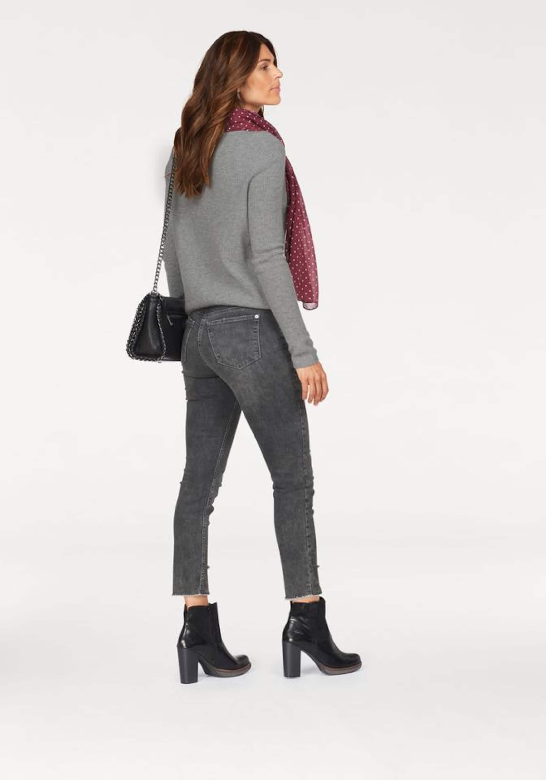 Bohemian' Grey Jeans In Denim Mac 'skinny v80wmnN