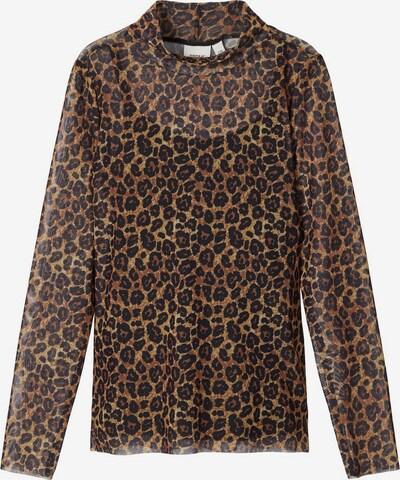 NAME IT Shirt 'Zartes' in braun / schwarz, Produktansicht