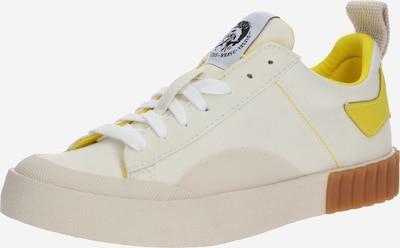DIESEL Baskets basses en crème / jaune / blanc, Vue avec produit
