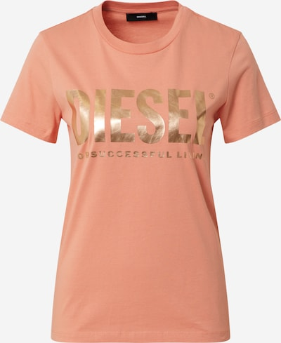 DIESEL T-Shirt 'Sily' in gold / orange, Produktansicht