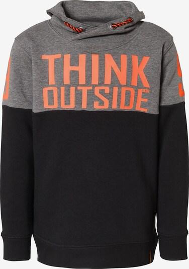 STACCATO Sweatshirt in grau / neonorange / schwarz, Produktansicht