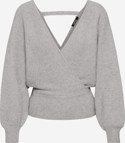 Boohoo Pullover 'Wrap' in hellgrau, Produktansicht