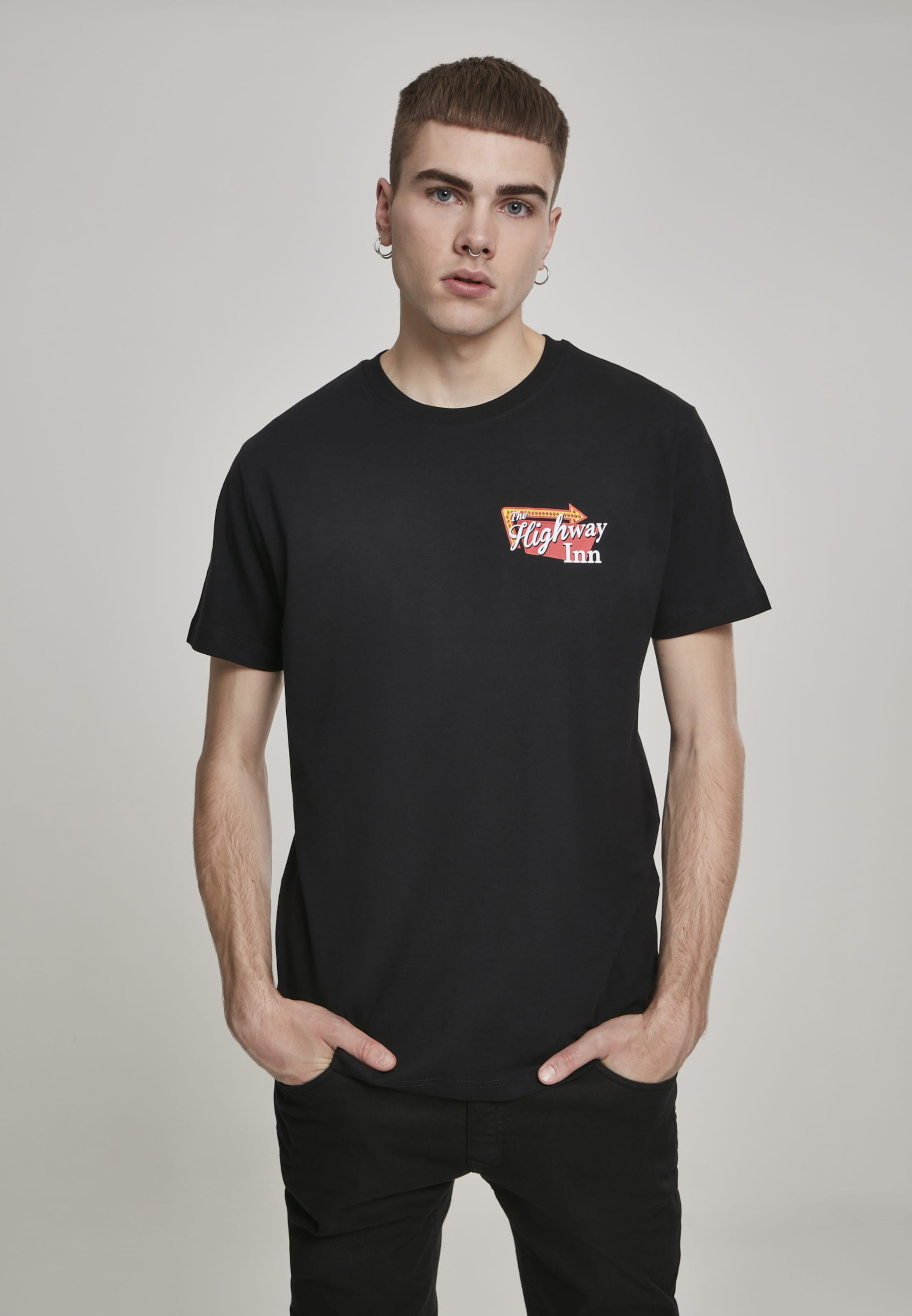 Mister Tee T-Shirt 'Highway Inn' in rot / schwarz / weiß Jersey MT784-00007-0042