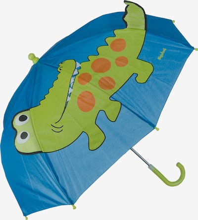 PLAYSHOES Umbrella 'Krokodil' in Blue / Green / Dark orange, Item view