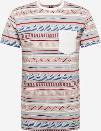 Iriedaily Shirt 'Hipstos' in blau / rostrot / offwhite, Produktansicht