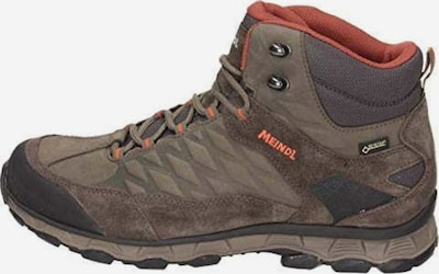 MEINDL Outdoorschuhe in dunkelbraun / orange: Frontalansicht