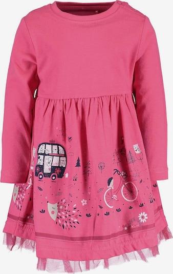 BLUE SEVEN Kleid in nachtblau / pink / weiß, Produktansicht