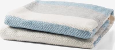 TOM TAILOR Decke in himmelblau / grau / wollweiß, Produktansicht