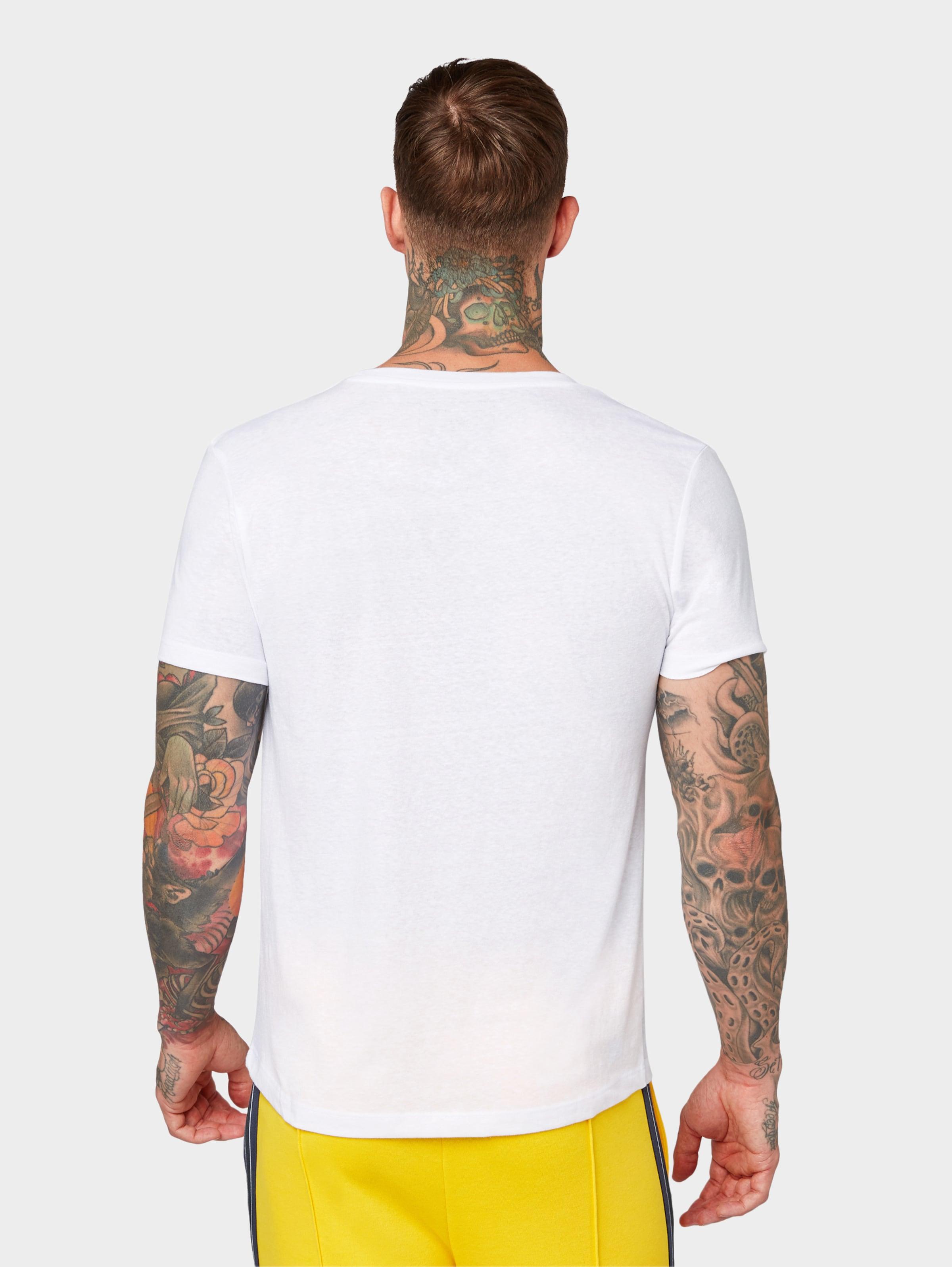 In Denim Tom Tailor T MarineWeiß shirt sCthQrd