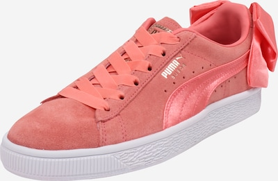 PUMA Sneaker 'Suede Bow' in pink / orangerot: Frontalansicht